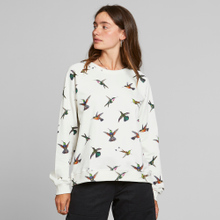 Sweatshirt Ystad Raglan Hummingbirds Off-White