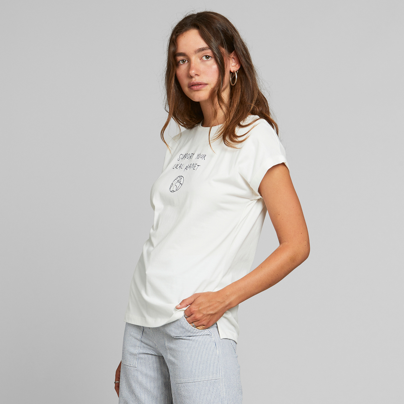 T-shirt Visby Local Planet Off-White