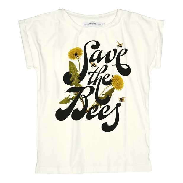 T-shirt Visby Save the Bees Off-White