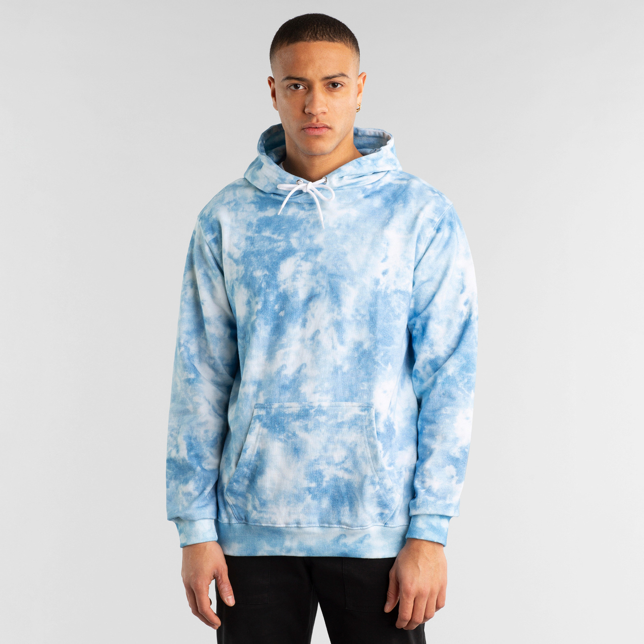 Hoodie Falun Tie Dye Blue