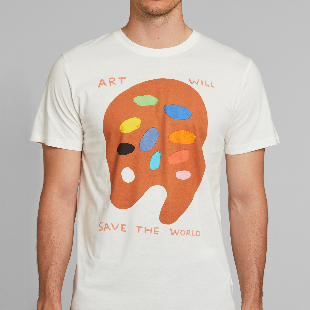T-shirt Stockholm Art Will Save Off-White