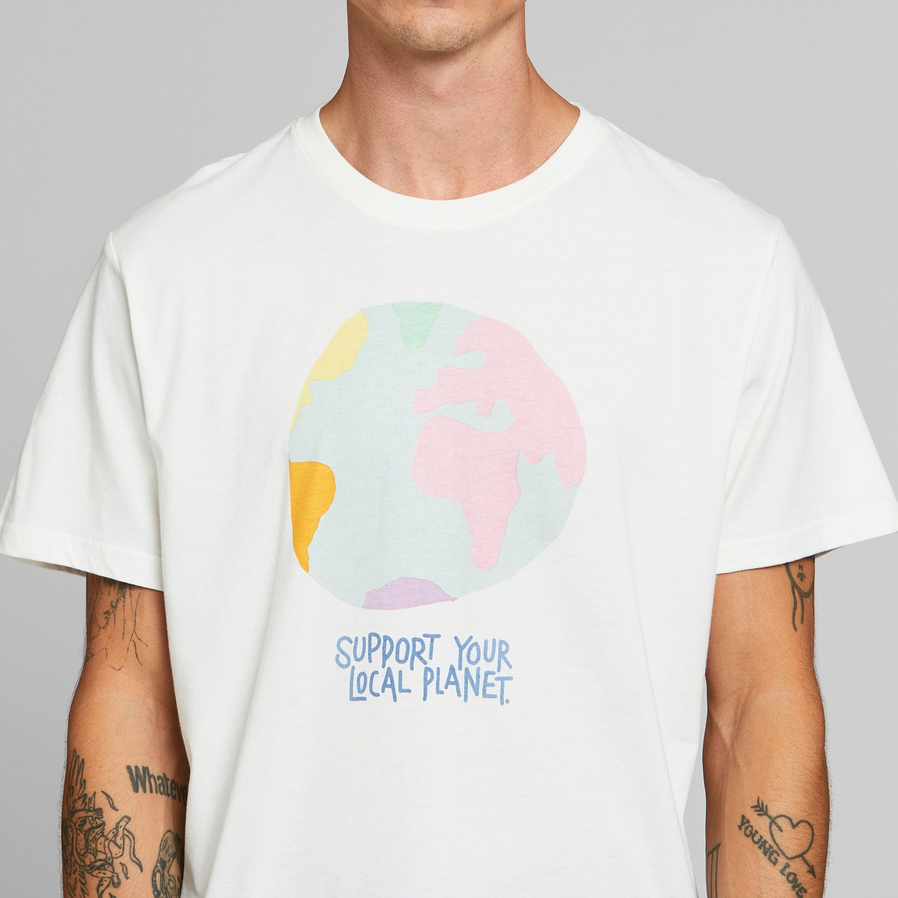 T-shirt Stockholm Color Globe Off-White