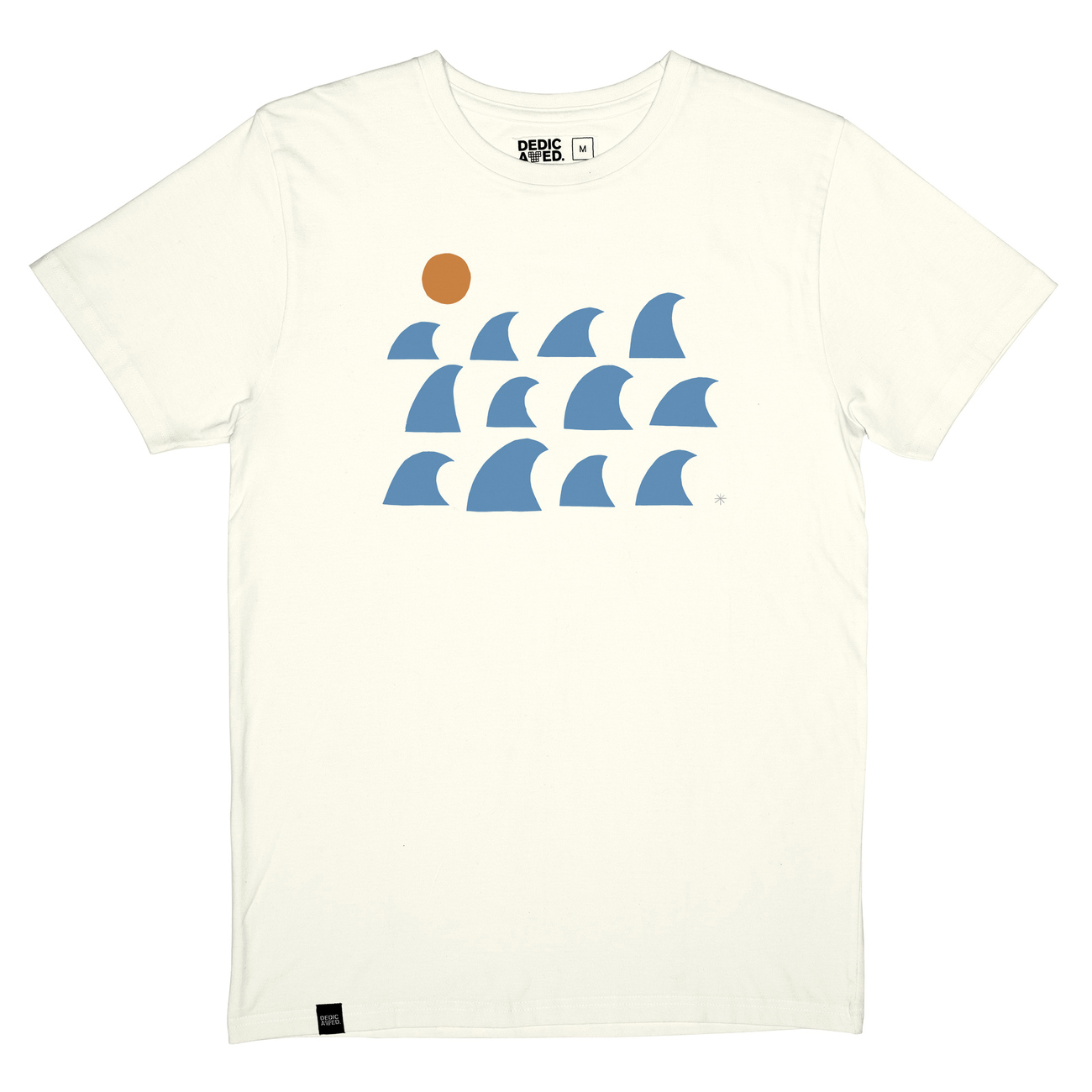 T-shirt Stockholm Rays and Waves Off-White