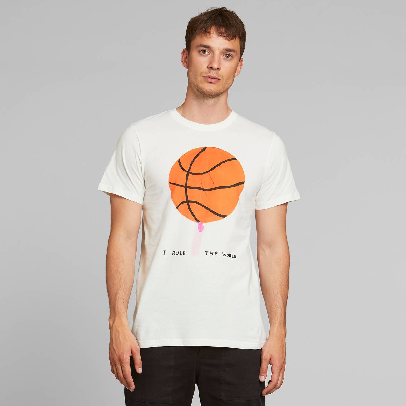 T-shirt Stockholm Rule the World Off-White