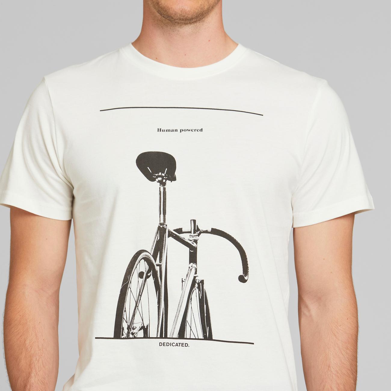 T-shirt Stockholm Simplicity Bike Off-White