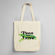 Tote Bag Torekov Peas And Love Off-White