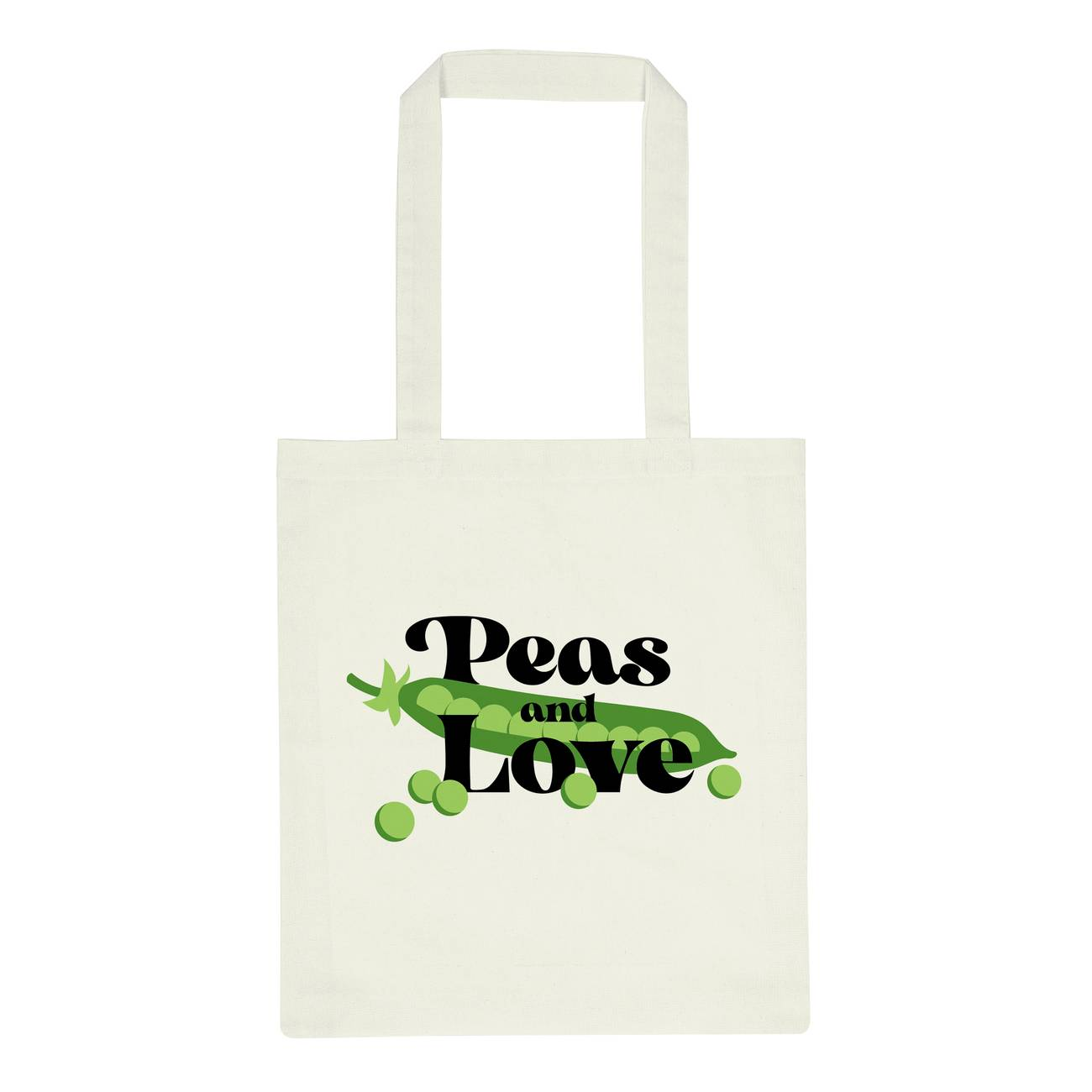 Tote Bag Torekov Peas And Love Off-White