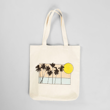 Tote Bag Torekov Sunset Palms Off-white