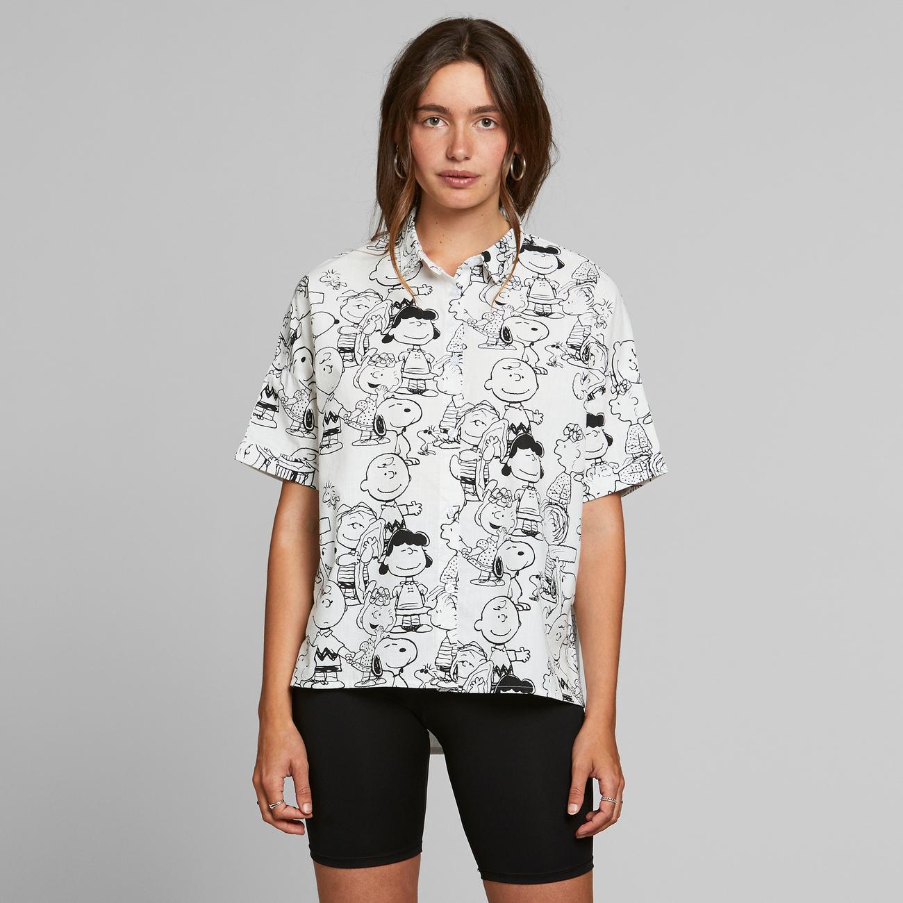 Shirt Short Sleeve Nibe Peanuts AOP Off-White