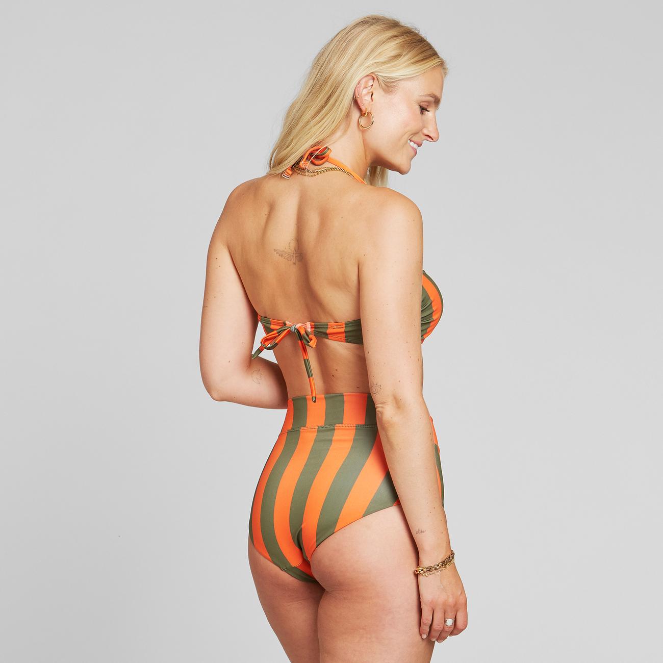 Bikini Top Kovik Big Stripe Orange