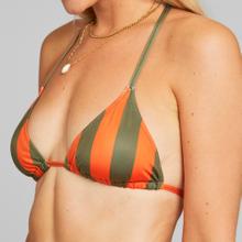 Bikini Top Sandnes Big Stripes Orange