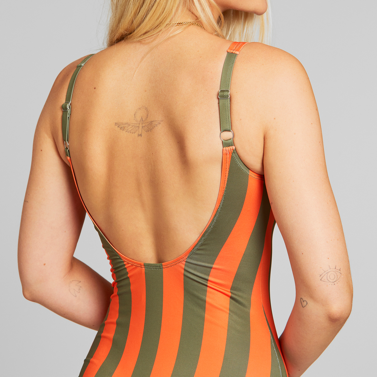 Sport Swimsuit Rana Big Stripes Orange
