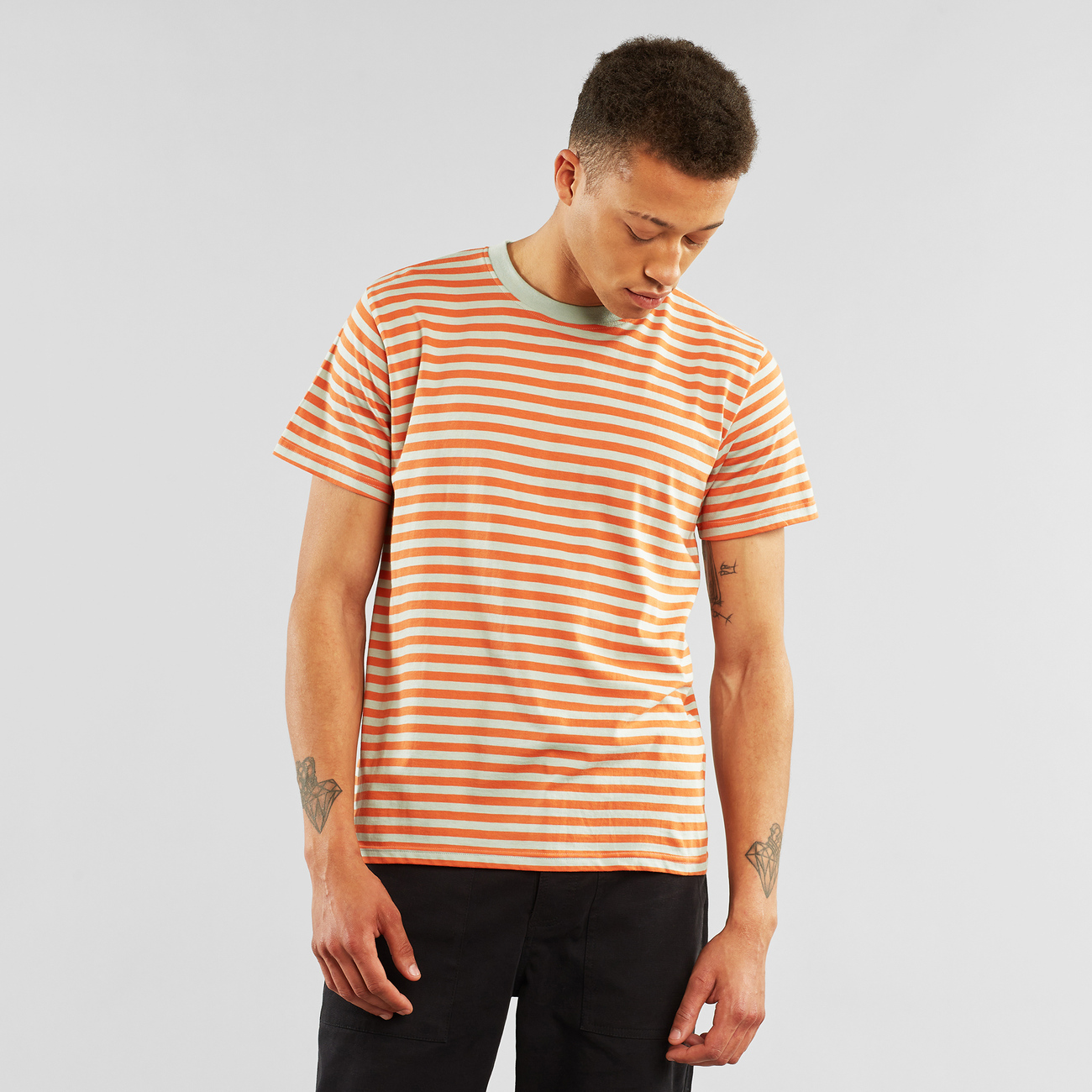 T-shirt Stockholm Stripes Orange