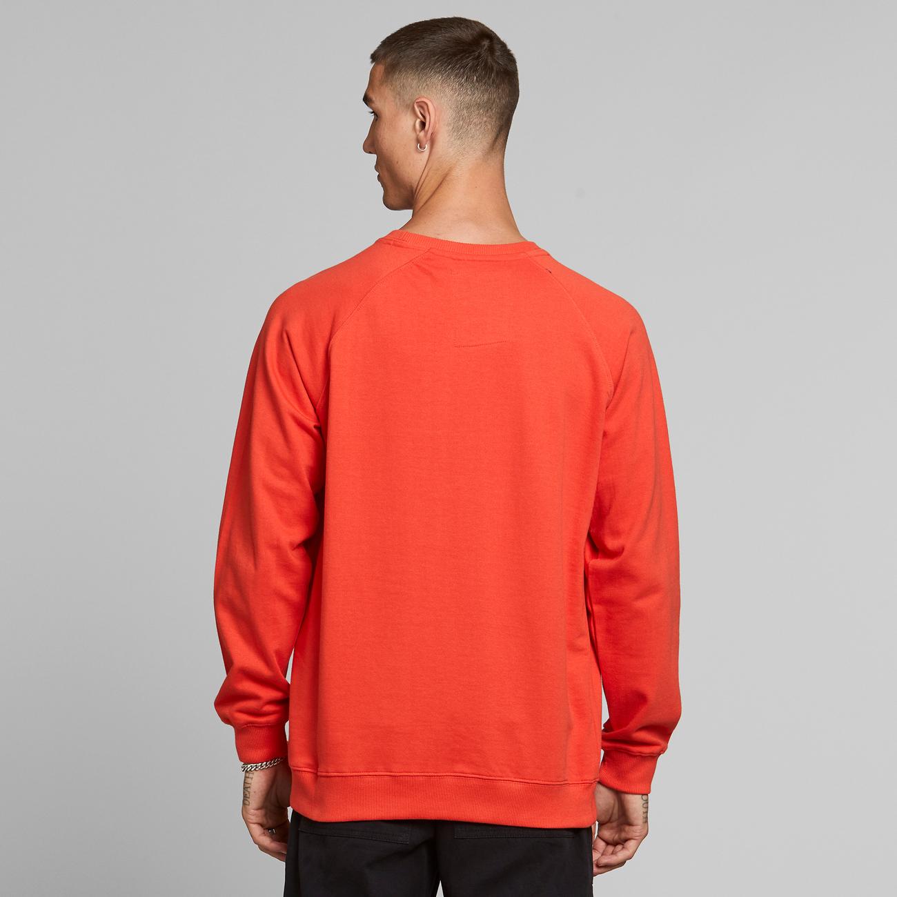 Sweatshirt Malmoe Dedicated Logo Pale Red