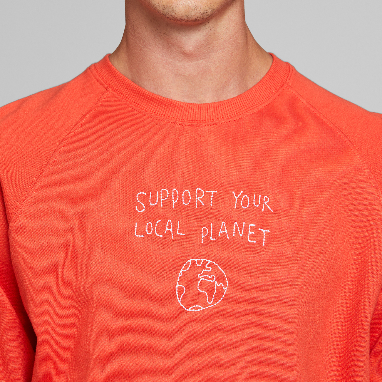 Sweatshirt Malmoe Local Planet Pale Red