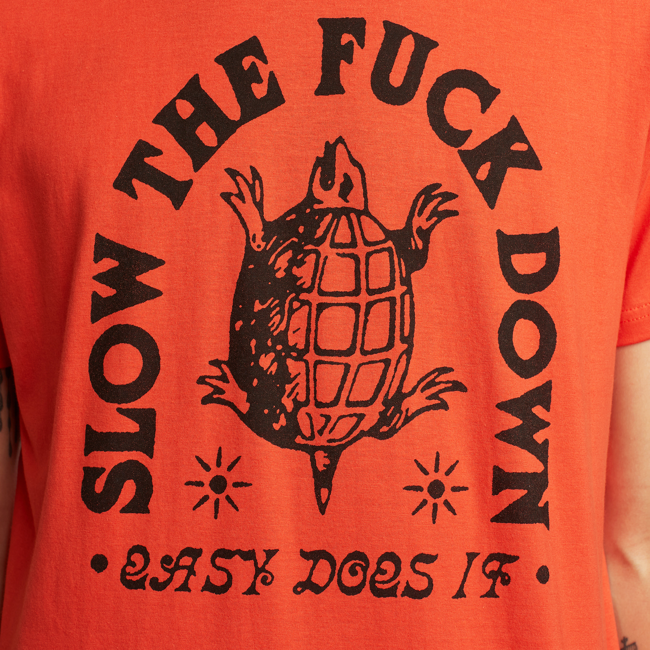 T-shirt Stockholm Slow Down Pale Red