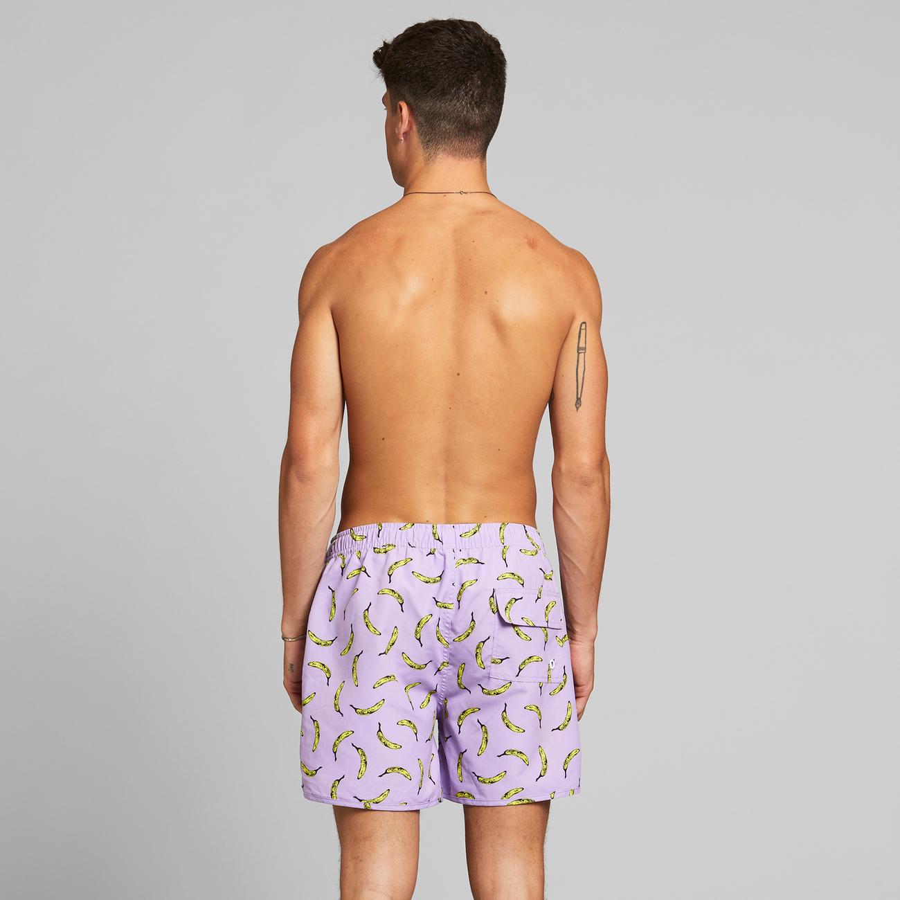 Swim Shorts Sandhamn Bananas Purple