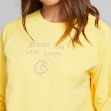 Sweatshirt Ystad Raglan Local Planet Yellow