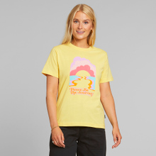 T-shirt Mysen Peace be the Journey Yellow