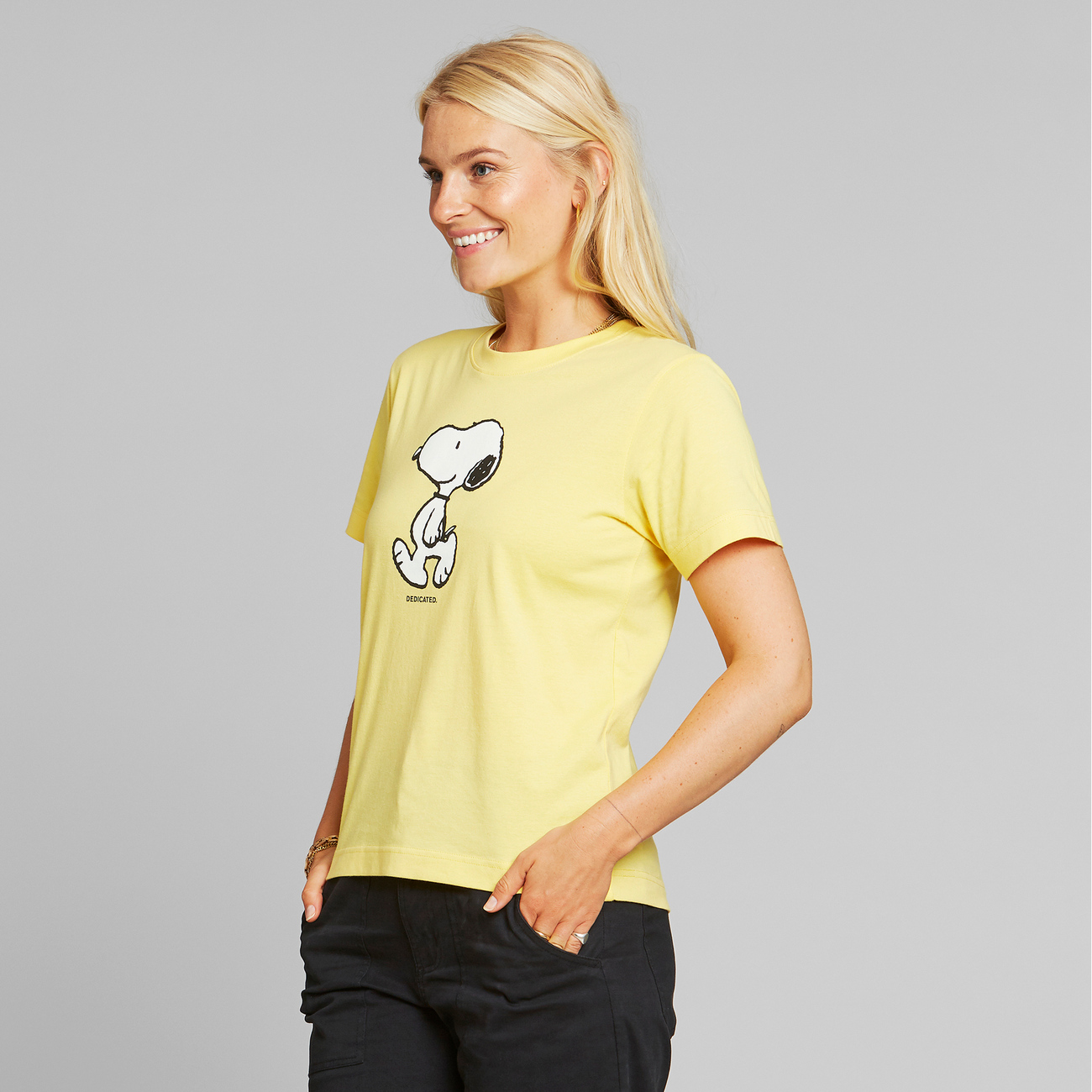 T-shirt Mysen Snoopy Yellow