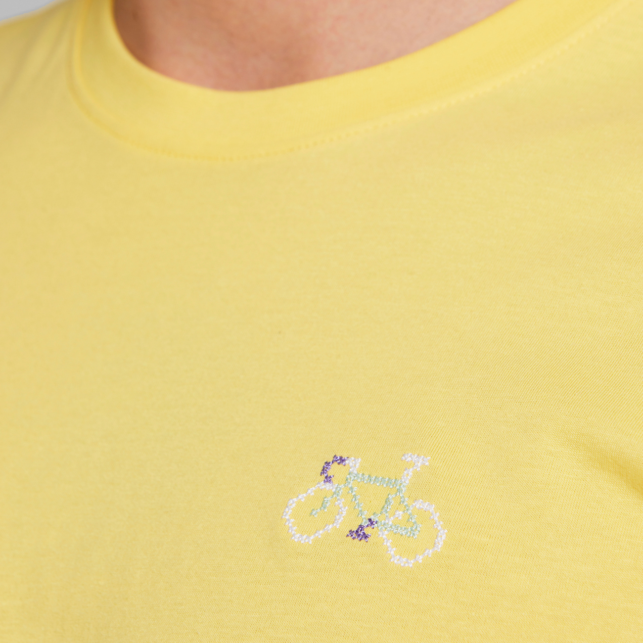 T-shirt Stockholm Stitch Bike Yellow