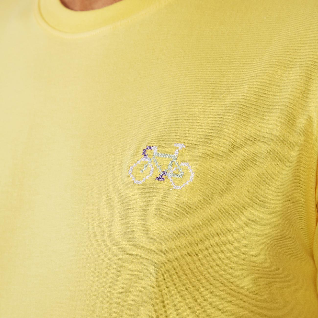 T-shirt Stockholm Stitch Bike Yellow