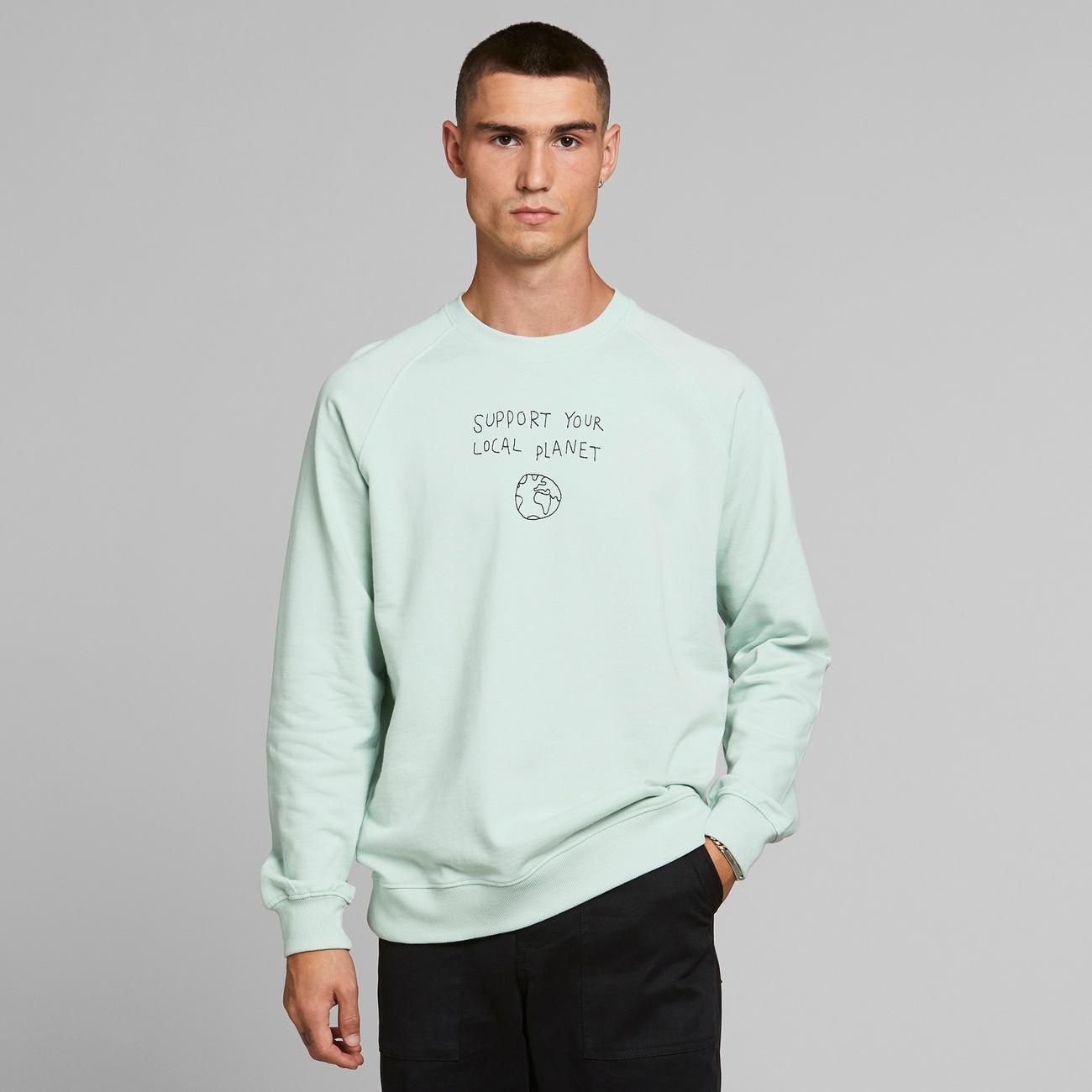 Sweatshirt Malmoe Local Planet Mint