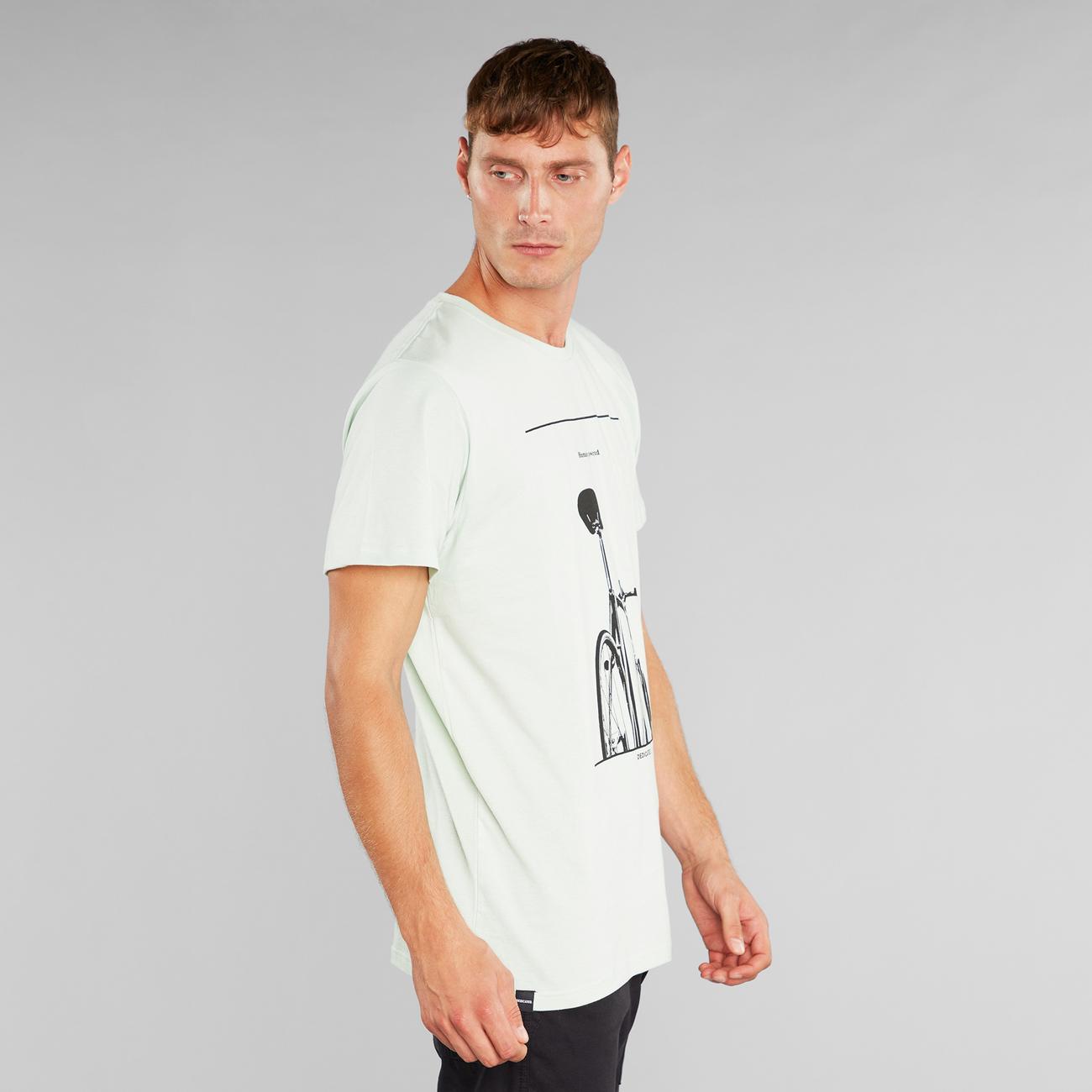 T-shirt Stockholm Simplicity Bike Mint