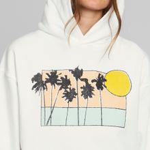 Hoodie Sundborn Sunset Palms White