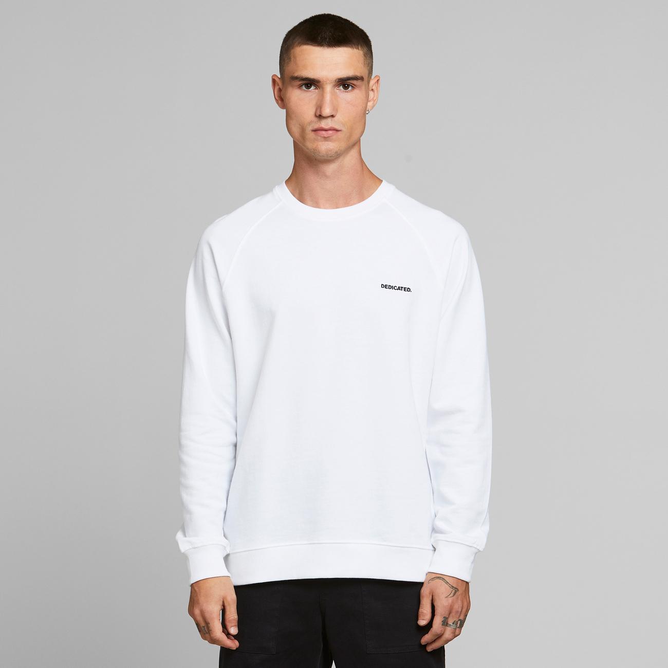 Sweatshirt Malmoe Dedicated Logo White
