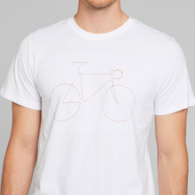 T-shirt Stockholm Rainbow Bicycle White