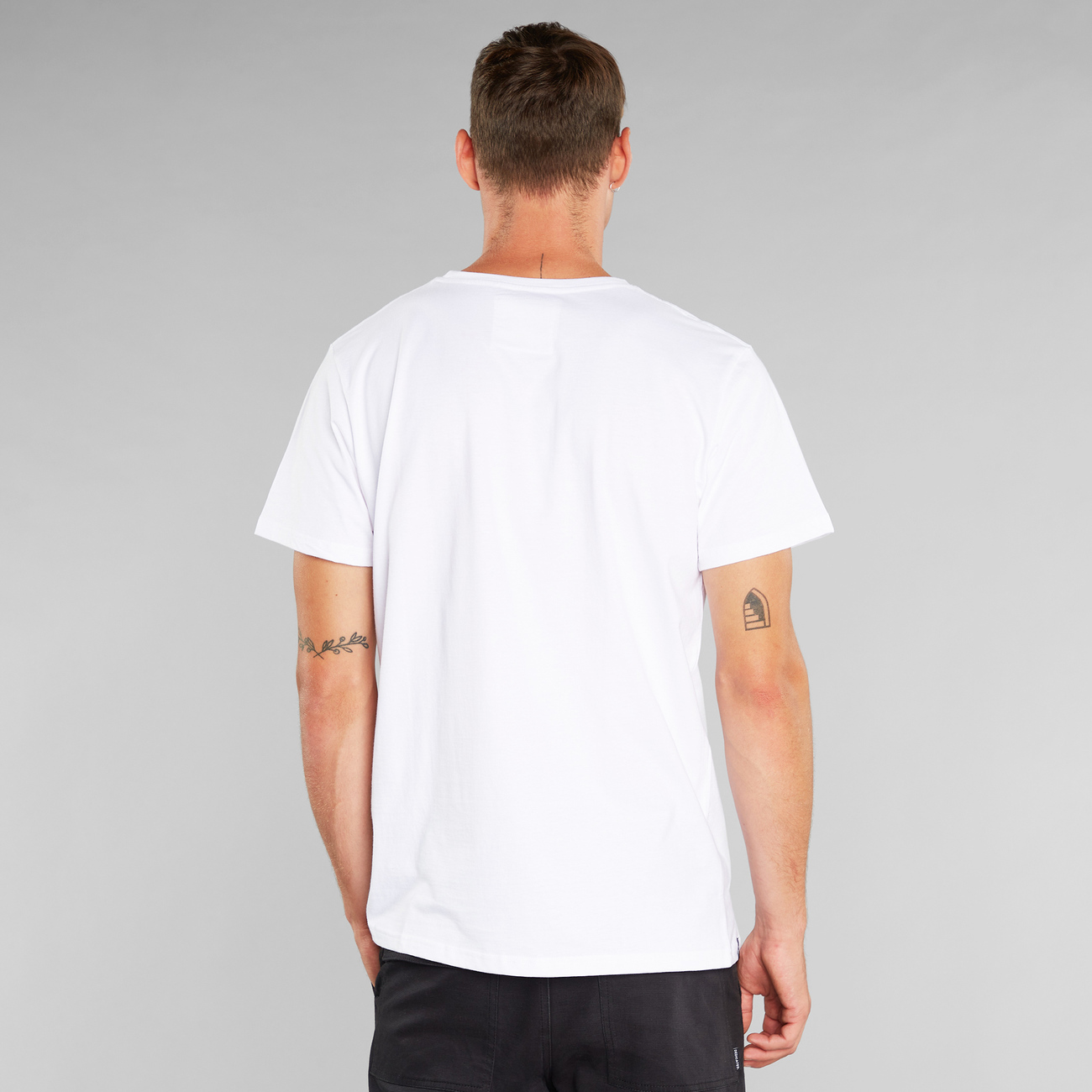 T-shirt Stockholm Snoopy Flags White