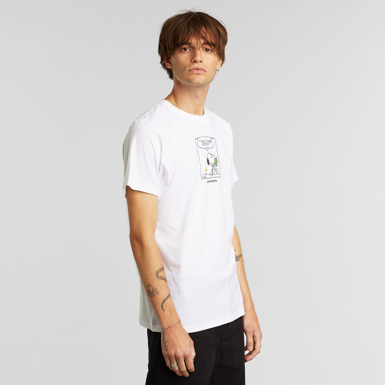 T-shirt Stockholm Snoopy Stupidity White