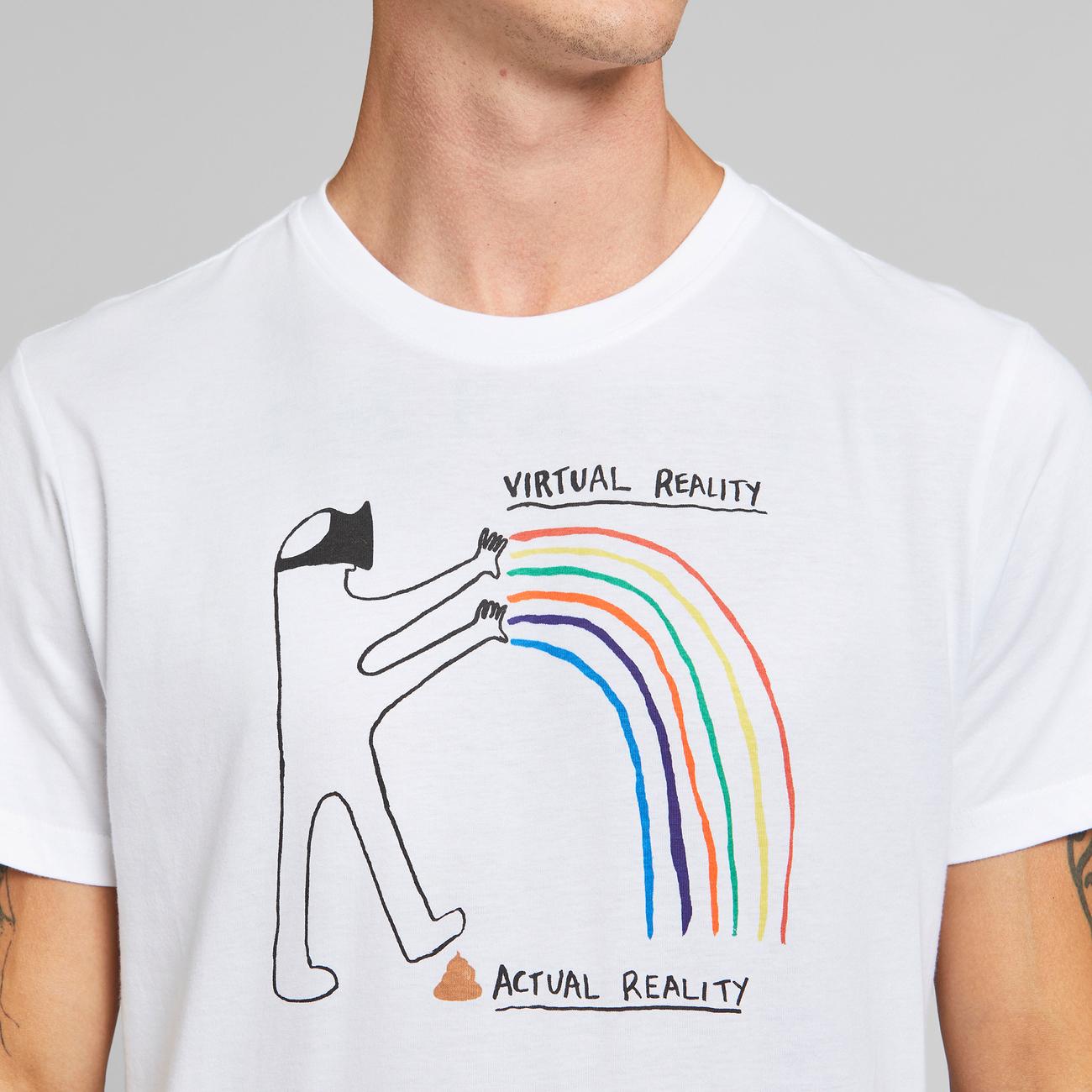 T-shirt Stockholm Virtual Reality White