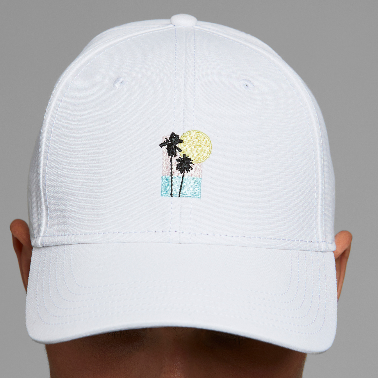 Sport Cap Sunset Palm White