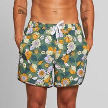 Swim Shorts Sandhamn Seventies Floral Green
