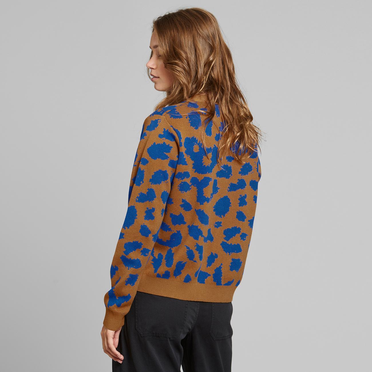 Cardigan Iggesund Leopard Light Brown