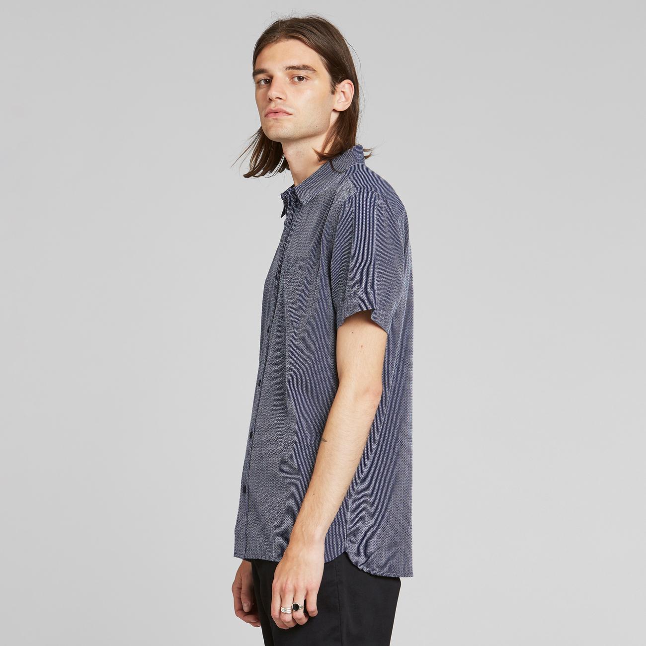 Shirt Short Sleeve Sandefjord Dobby Navy