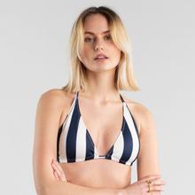 Bikini Top Sandnes Big Stripes Navy