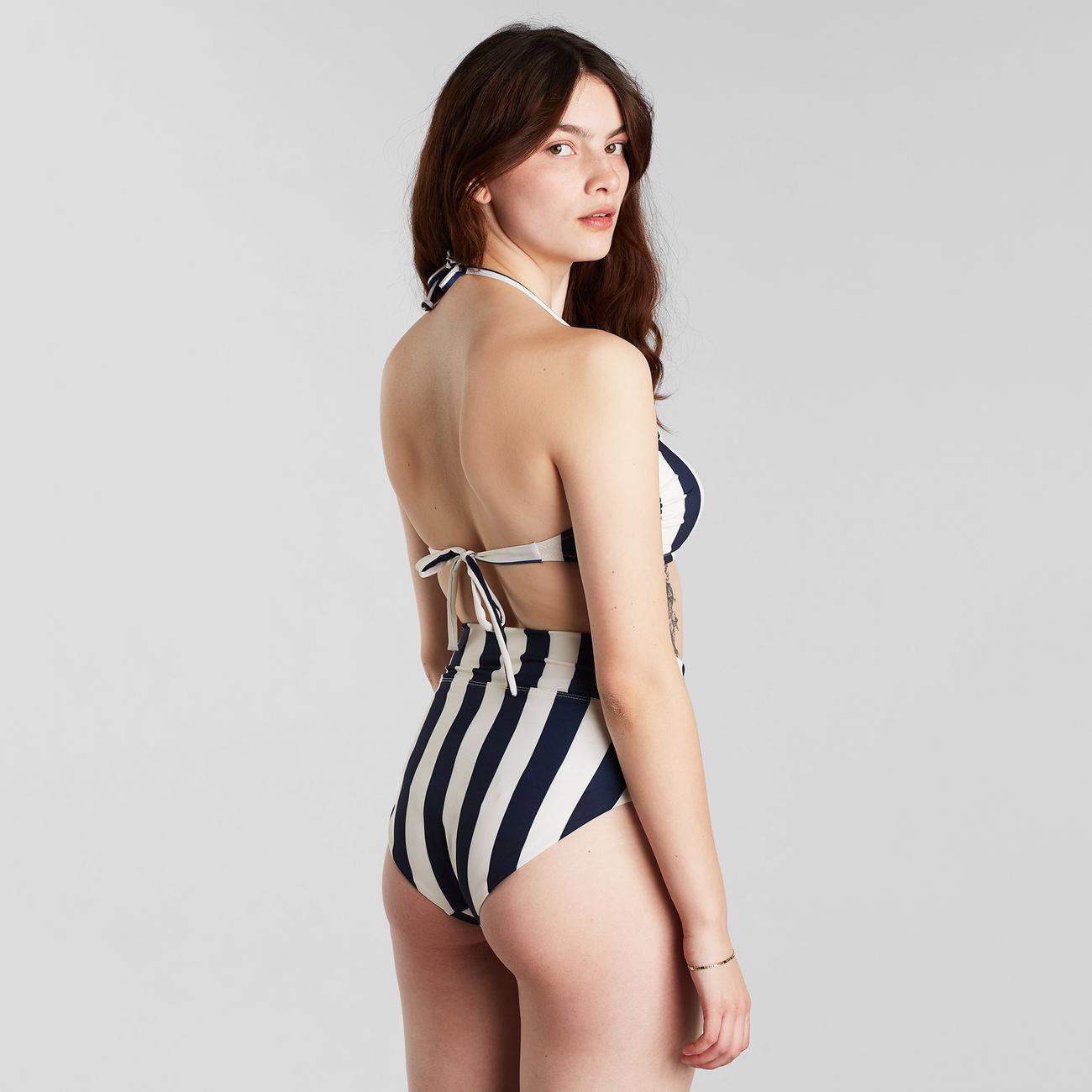 Bikini Pants Slite Big Stripes Navy