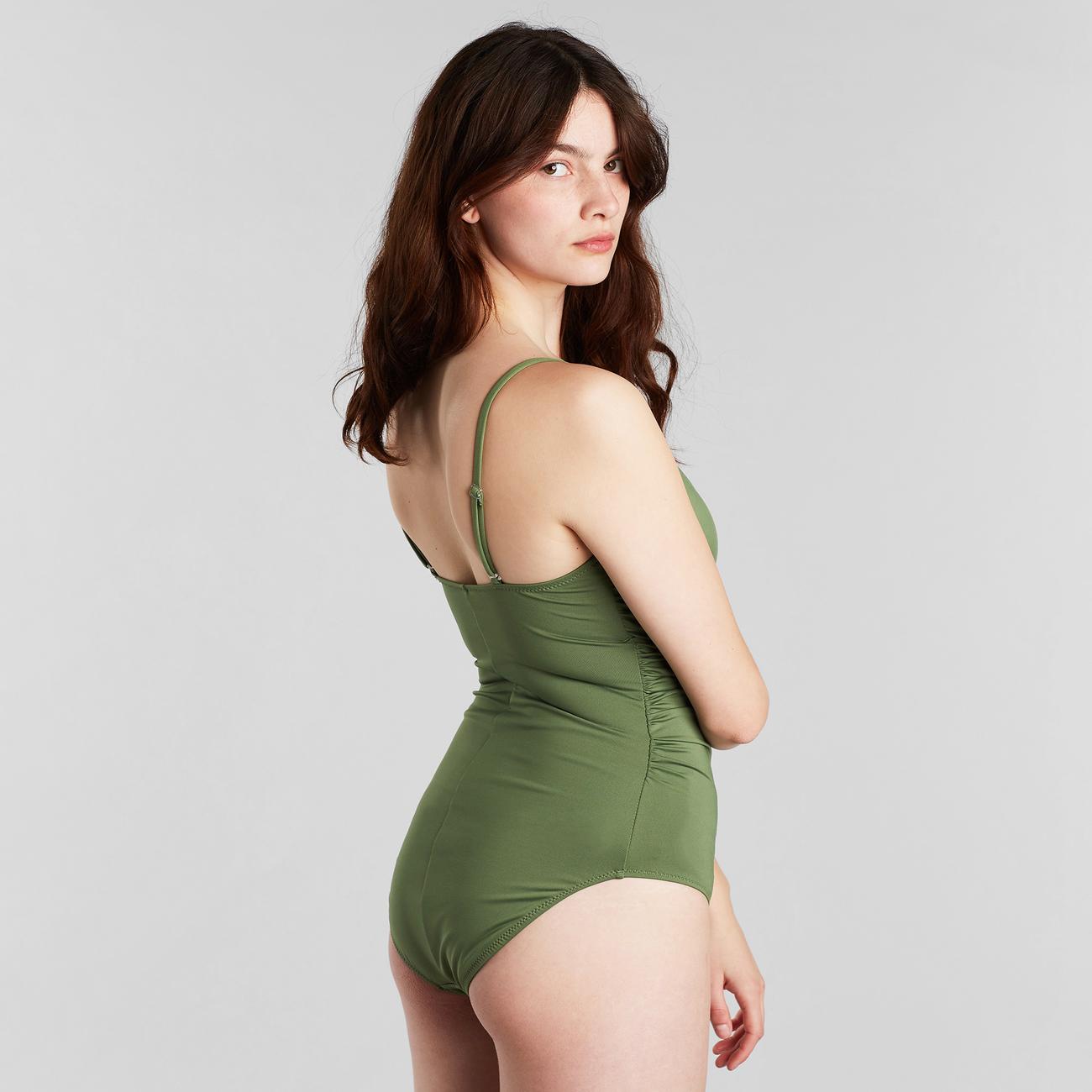 Wrap Swimsuit Klinte Olive Green