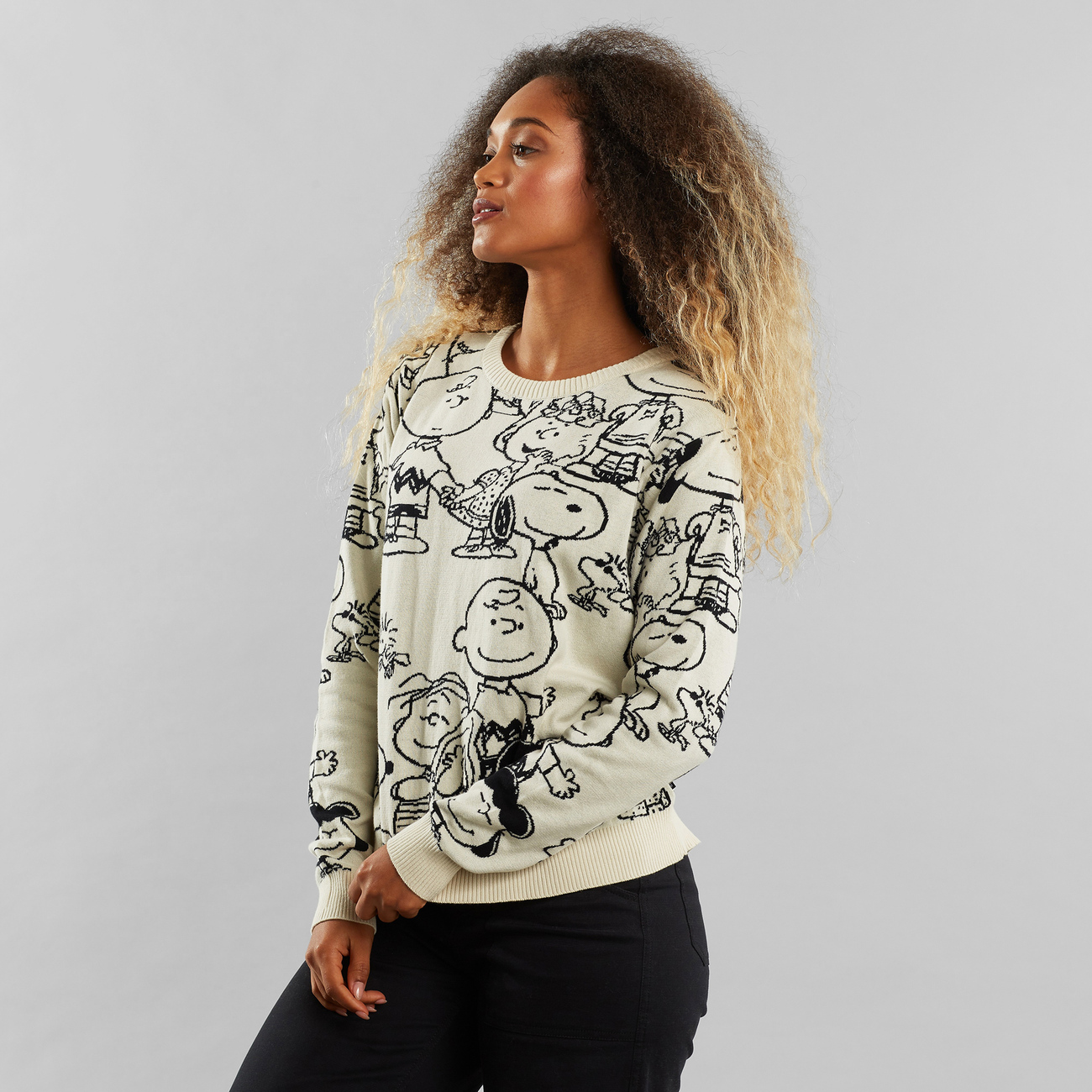 Sweater Arendal Peanuts AOP Off-White