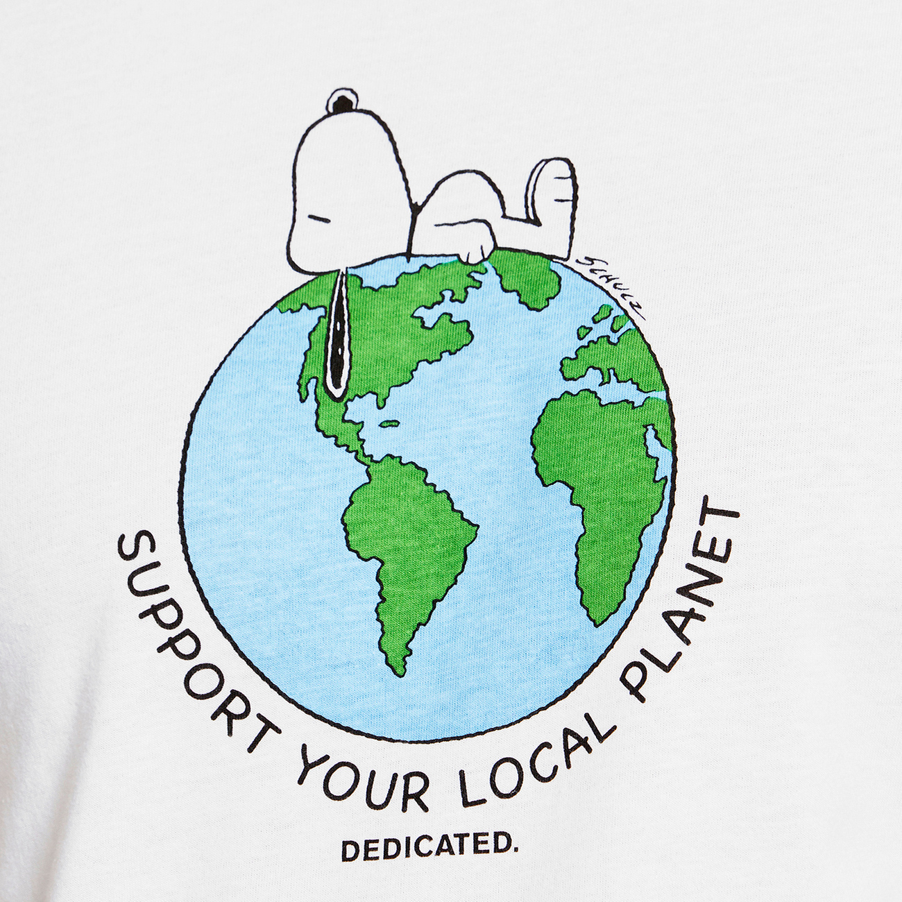 T-shirt Mysen Snoopy Earth White