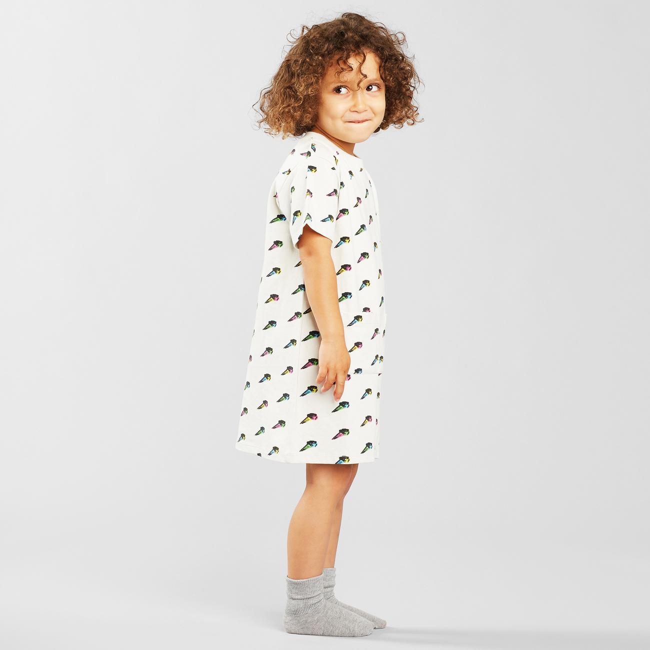 T-shirt Dress Vetlanda Pop Ice Cream Light Grey