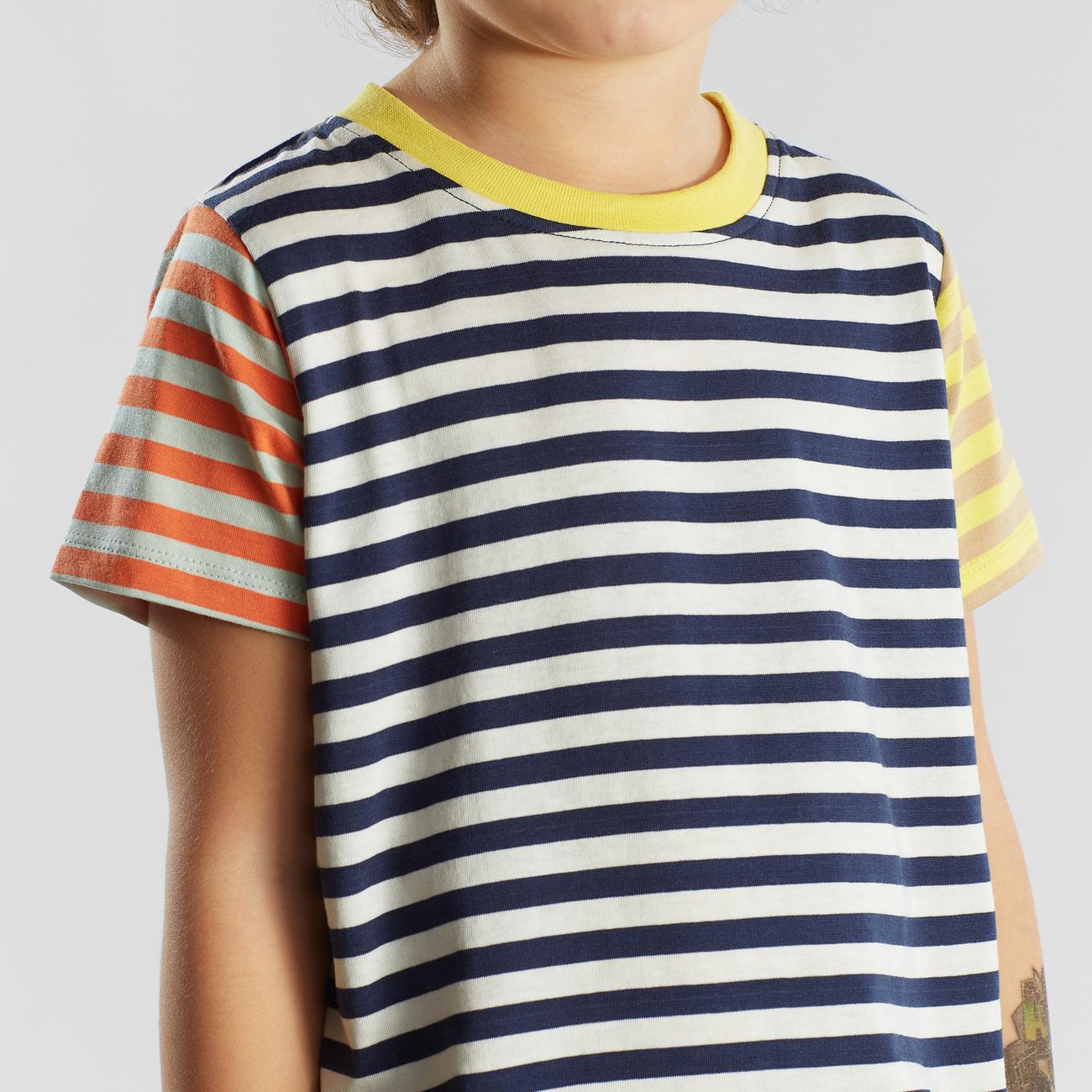 T-shirt Hamra Block Stripes Multi Color