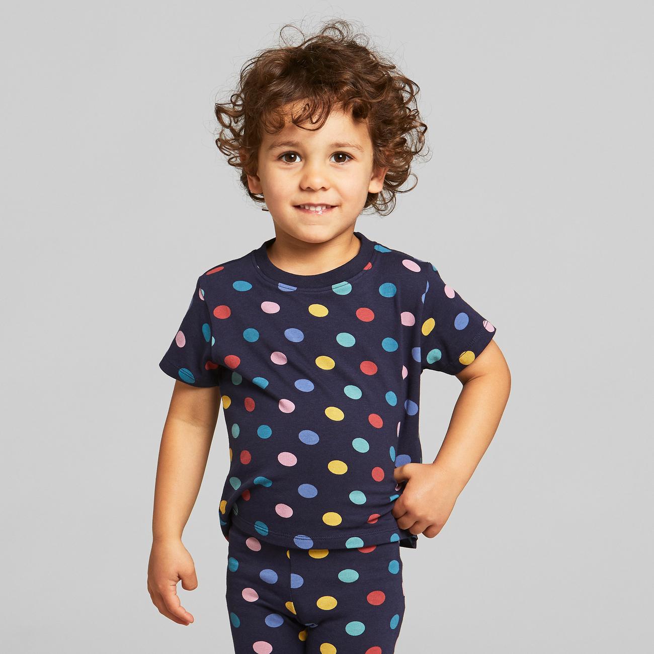 T-shirt Hamra Color Dots Navy