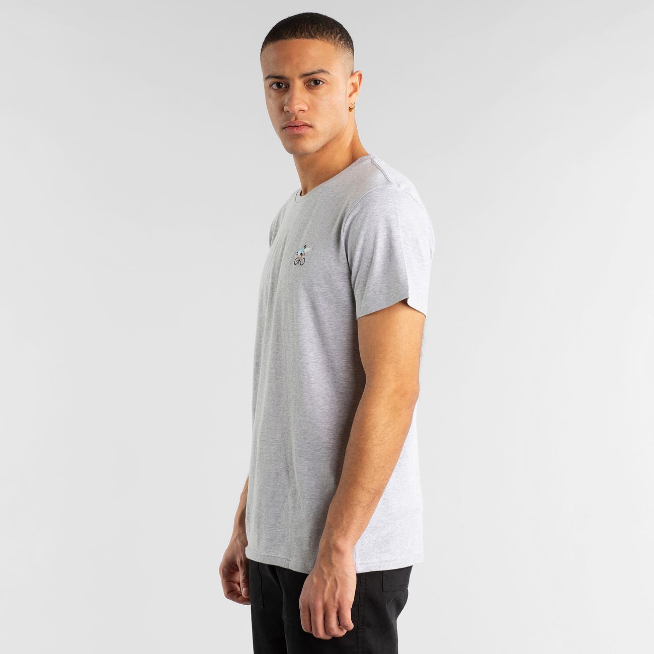 T-shirt Stockholm Bike Surfer Grey Melange