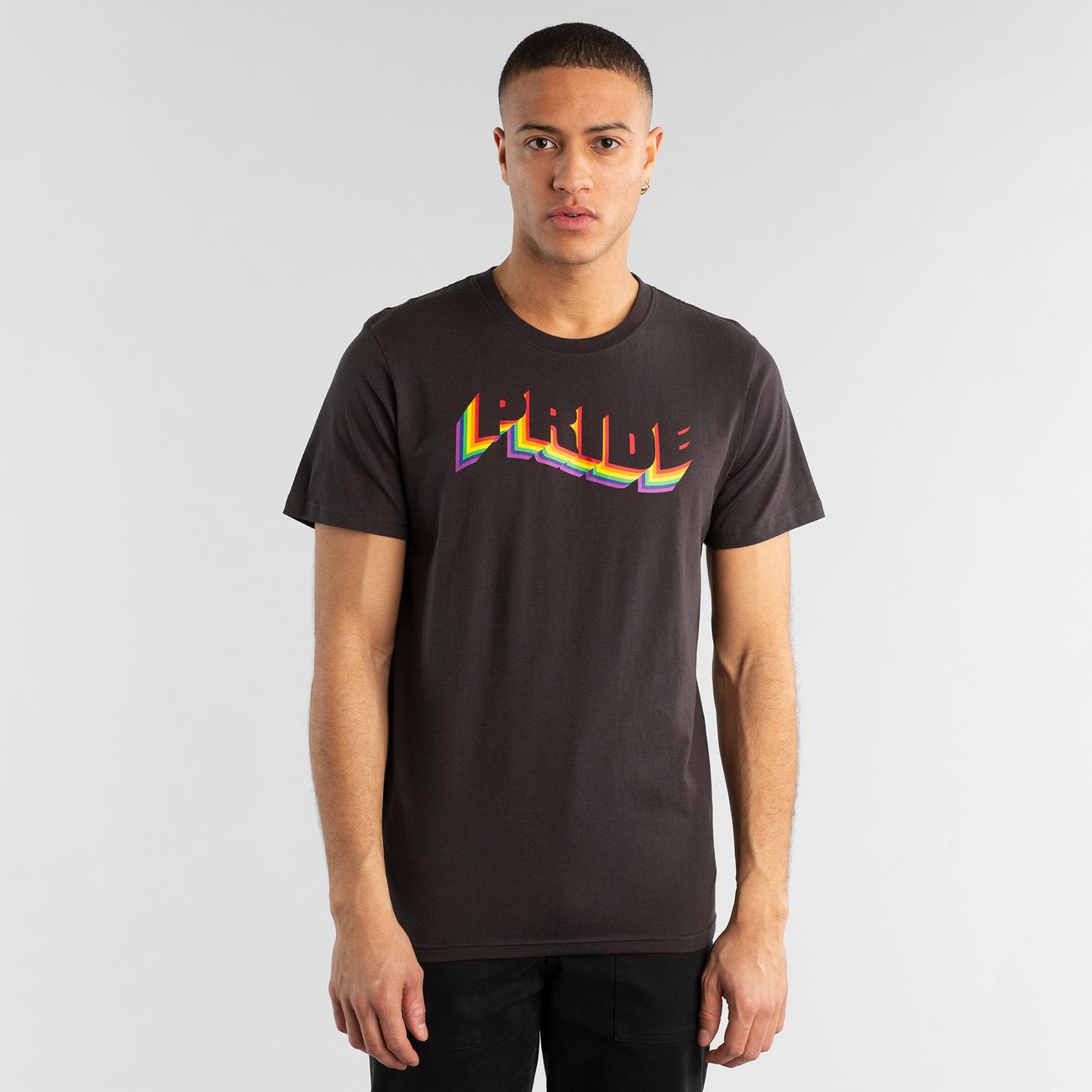 T-shirt Stockholm Pride Flag Charcoal