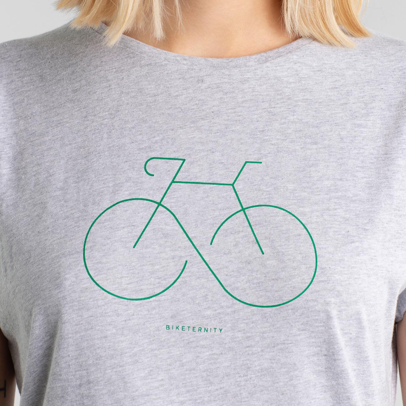 T-shirt Visby Biketernity Grey Melange
