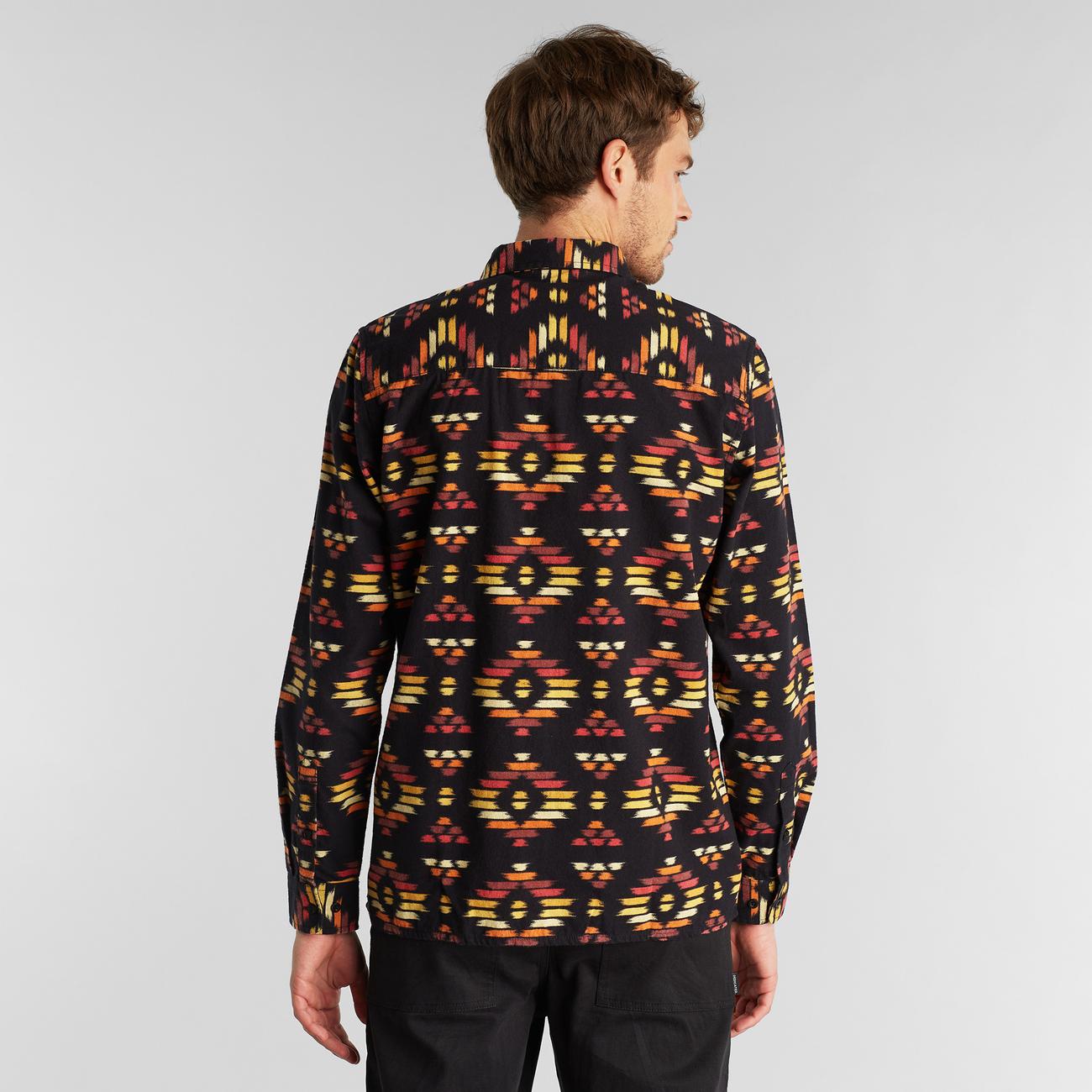 Shirt Rute Ikat Flannel Black